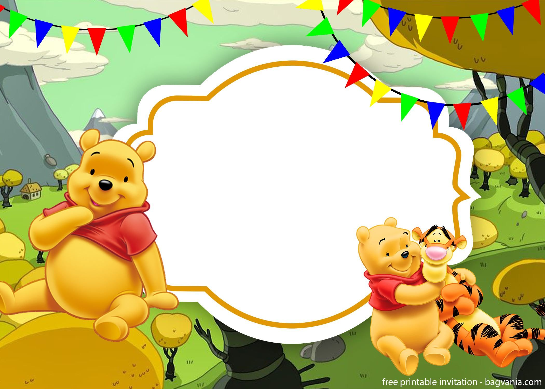 Printable Winnie The Pooh Invitation Template
