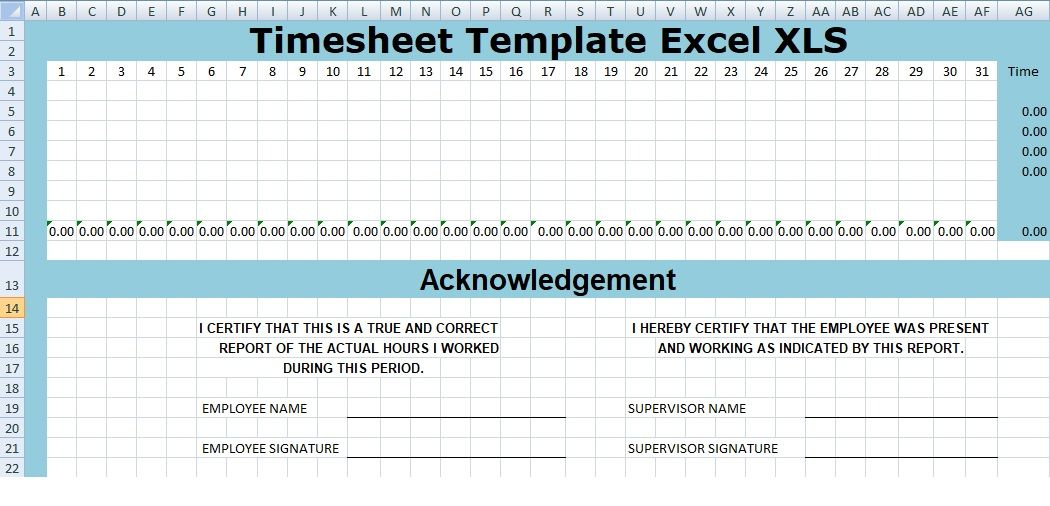Project Management Project Timesheet Template Excel