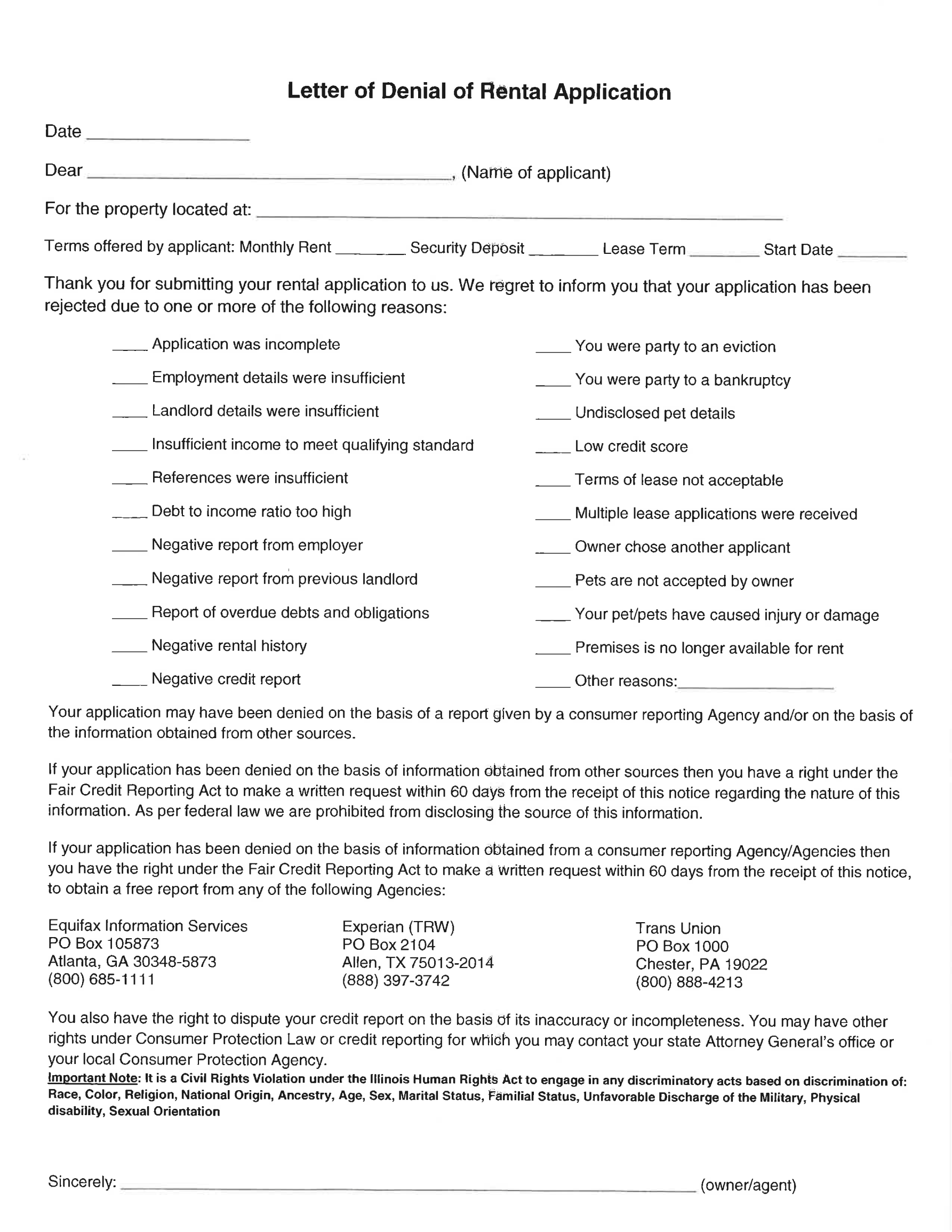 Rent Contracts Templates