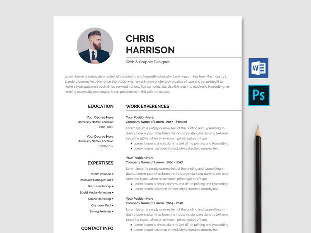 Resume Template Word Download Free