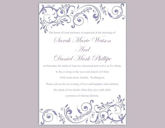 Sample Editable Wedding Invitation Templates Free Download