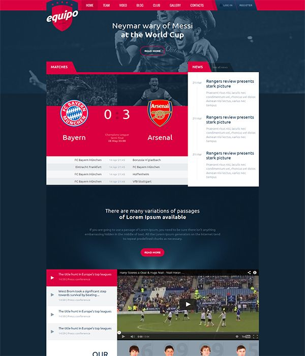 Sports Websites Templates