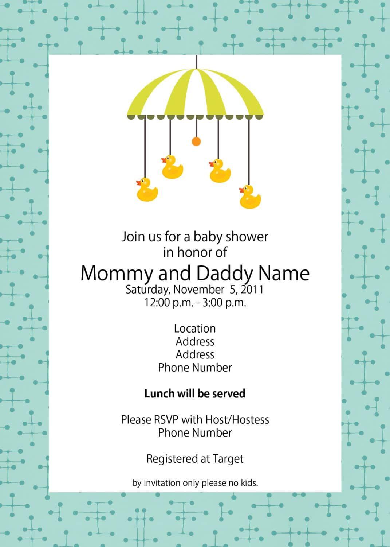Template Baby Shower Invitation Ideas