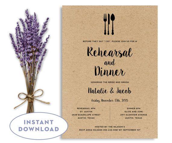 Wedding Rehearsal Invitation Template