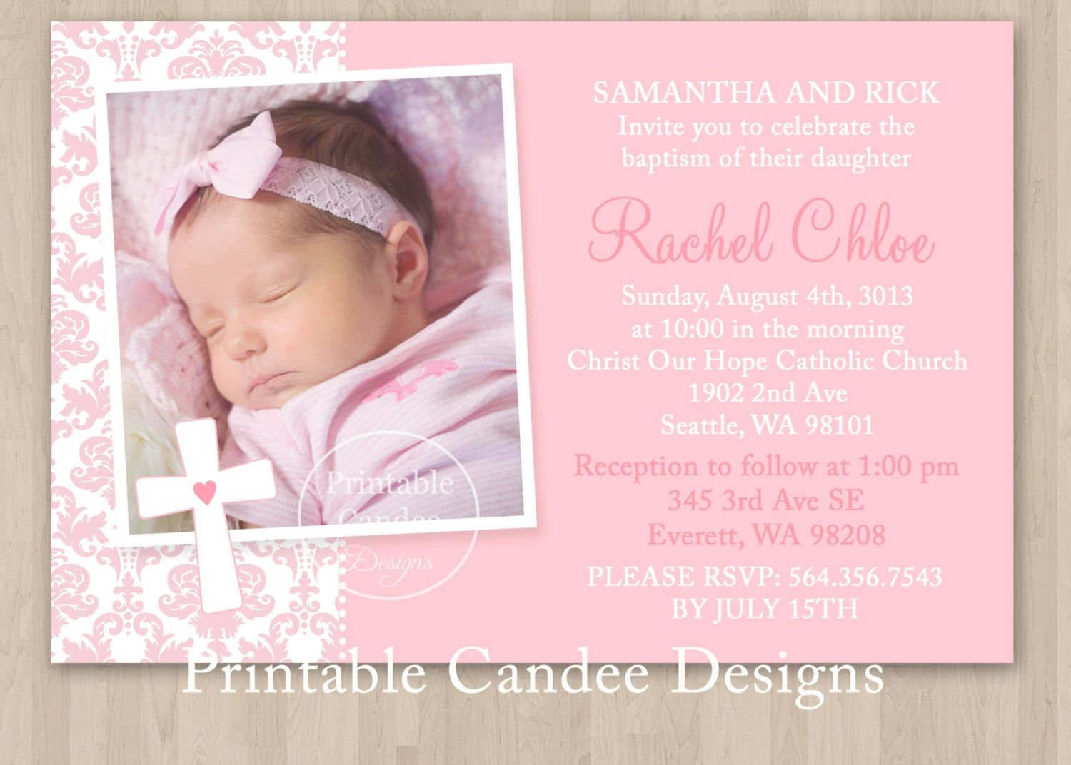Baby Baptism Invitations Templates