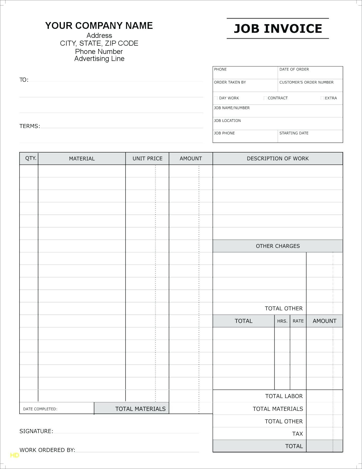 Blank Invoice Free Invoice Template Doc Download