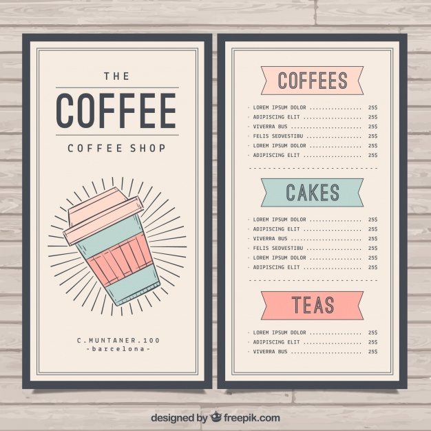Cafe Menu Template Free