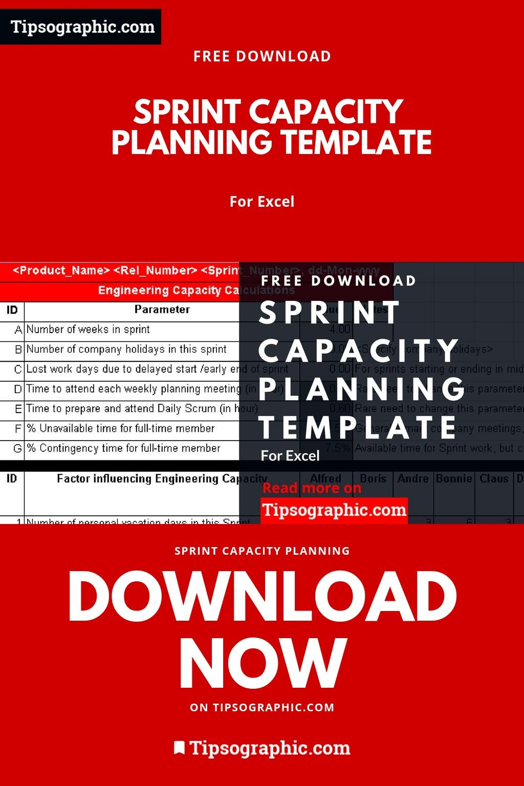Capacity Planning Excel Template Free Download