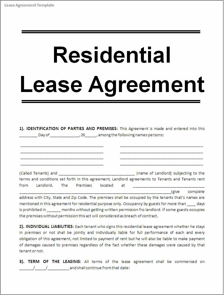 Types Of Commercial Lease Agreements 45208 Lease Agreement Template Word Excel Formats