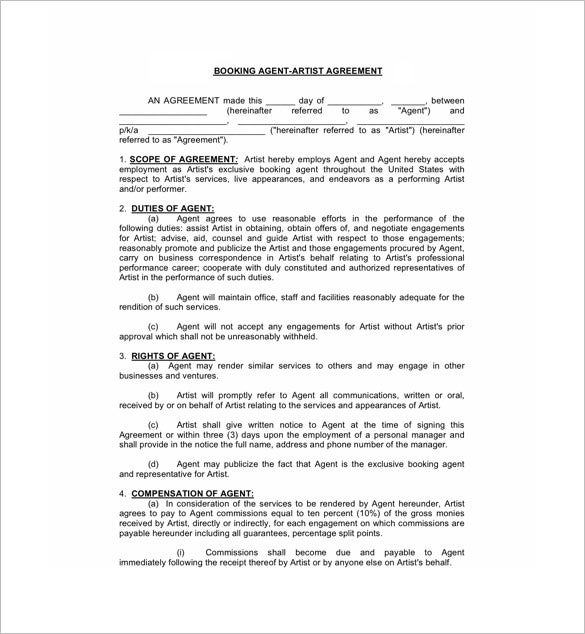 Commission Sales Contract Template Free