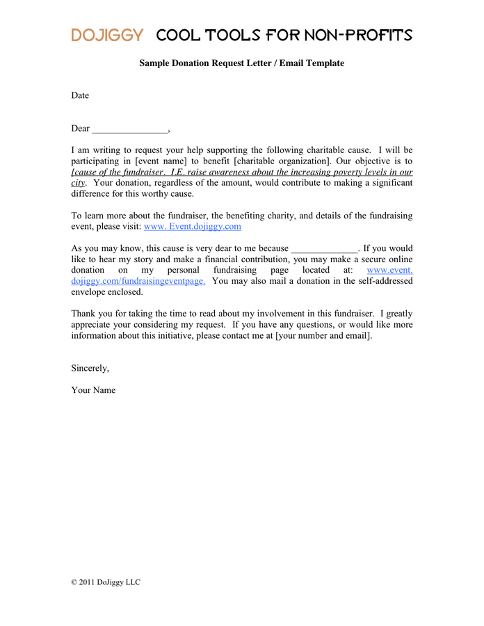 Donation Request Donation Letter Template Word
