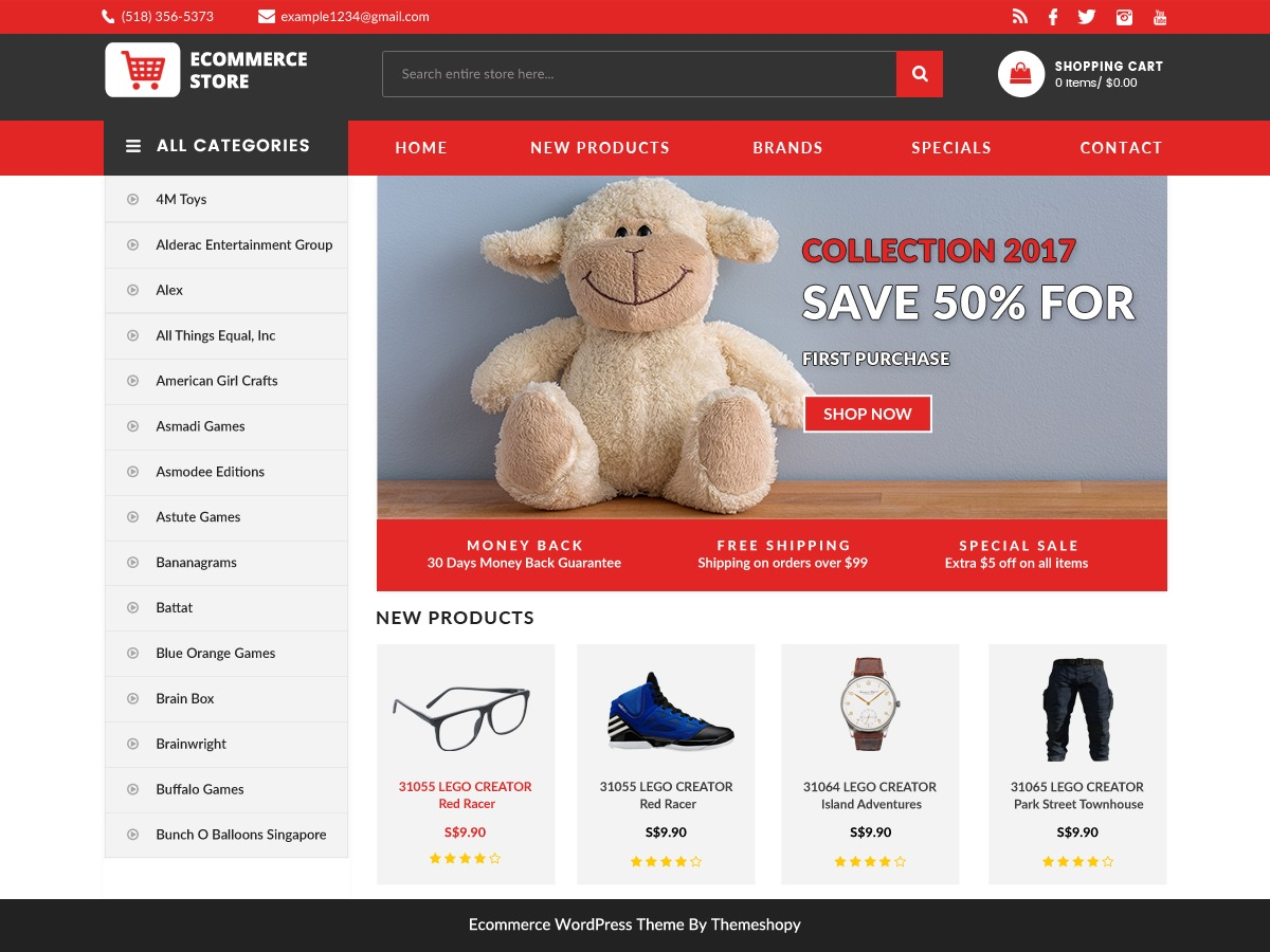 Ecommerce Template Wordpress