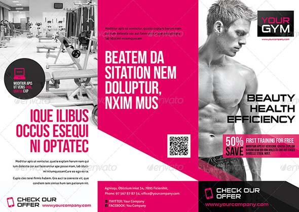 Fitness Brochure Templates Free