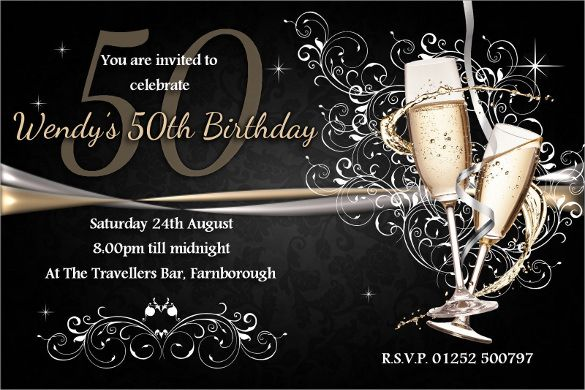 Free 50th Birthday Invitation Templates Printable