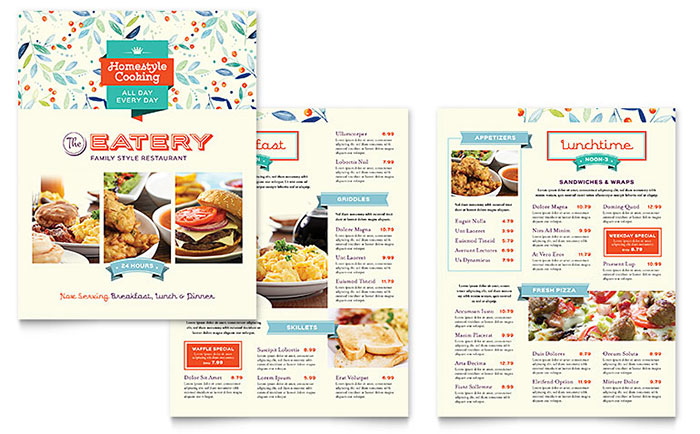 Free Restaurant Menu Templates For Mac
