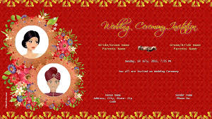 Hindu Marriage Hindu Wedding Invitation Templates Free Download