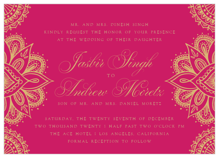 Hindu Wedding Invitation Templates