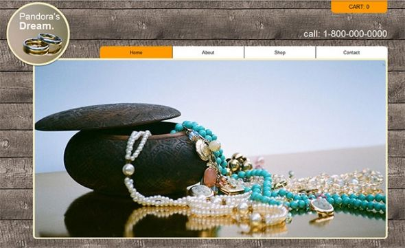 Jewelry Websites Templates