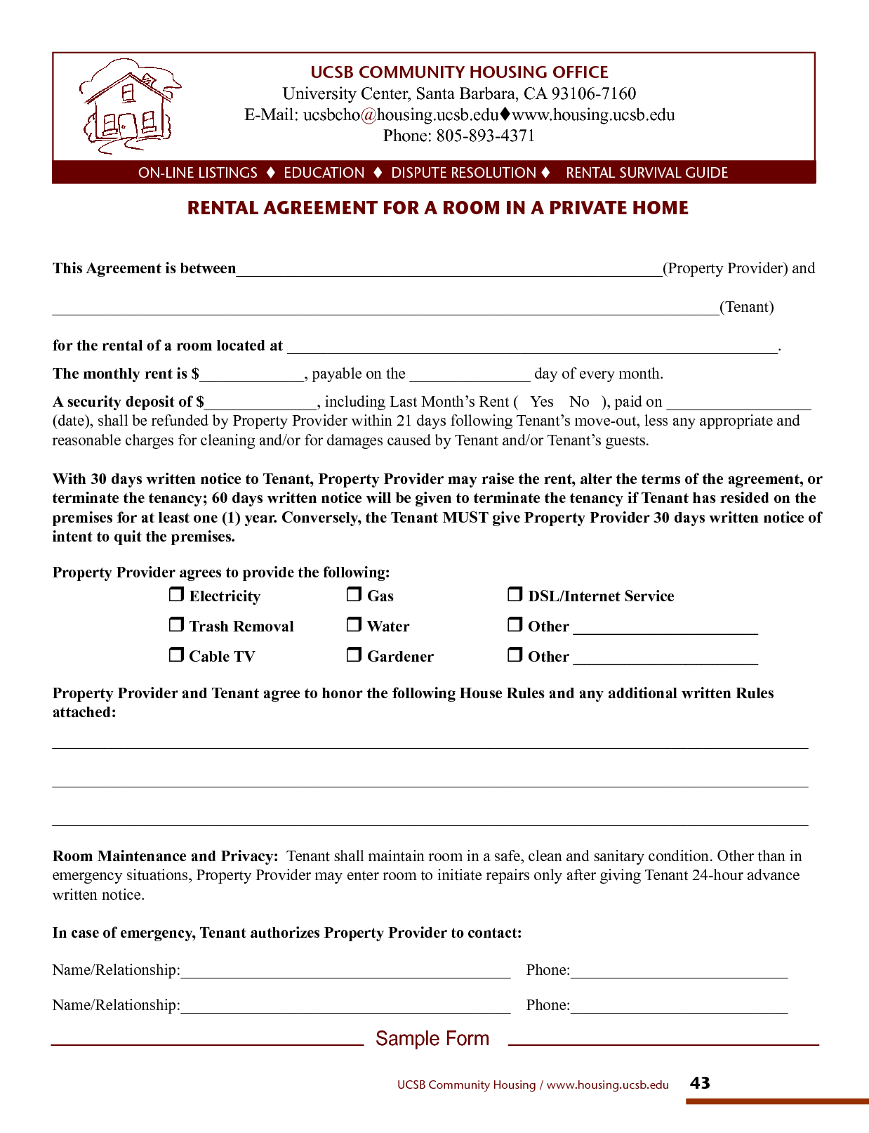 Lease Agreements Template