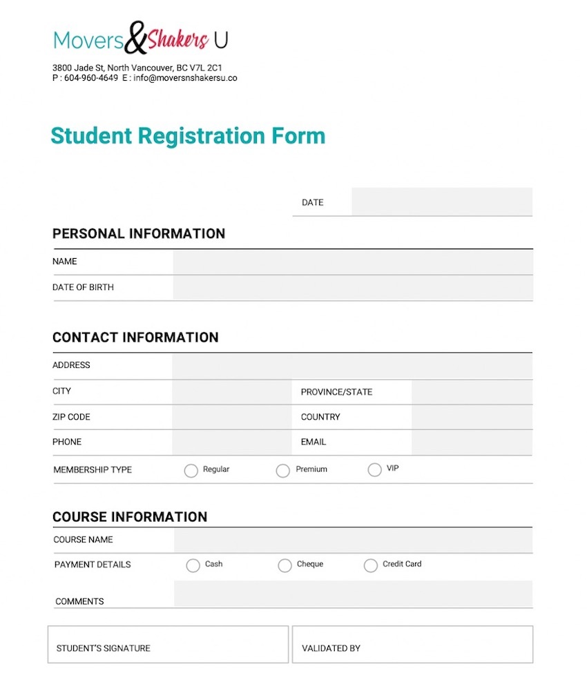 Membership Application Form Template Word