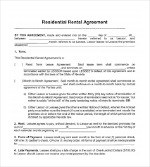 Month To Month Rental Agreement Template Pdf