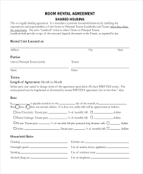 Month To Month Room Rental Agreement Template