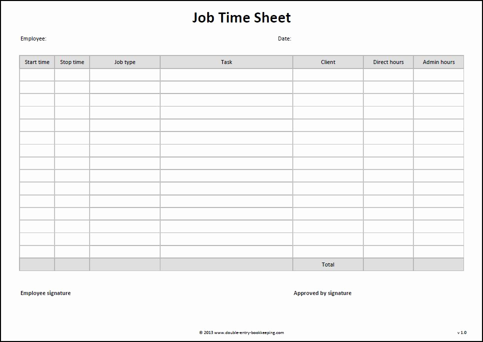 Timesheet App For Multiple Employees Then Job Time Sheet Template