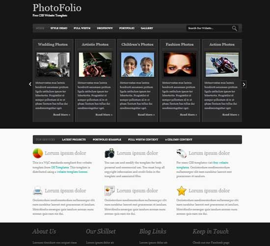 Photography Portfolio Website Templates Html5 Free