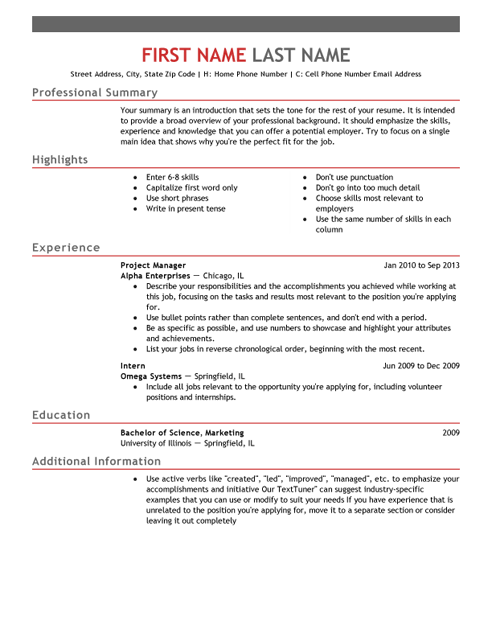 Powerful Resume Templates