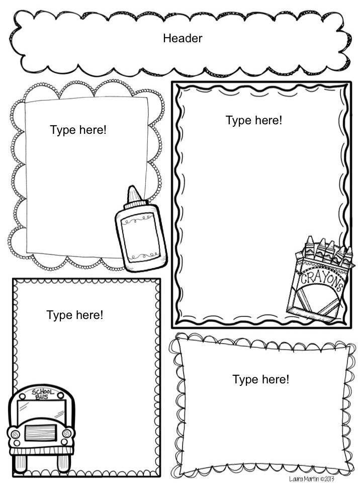 Preschool Newsletters Templates
