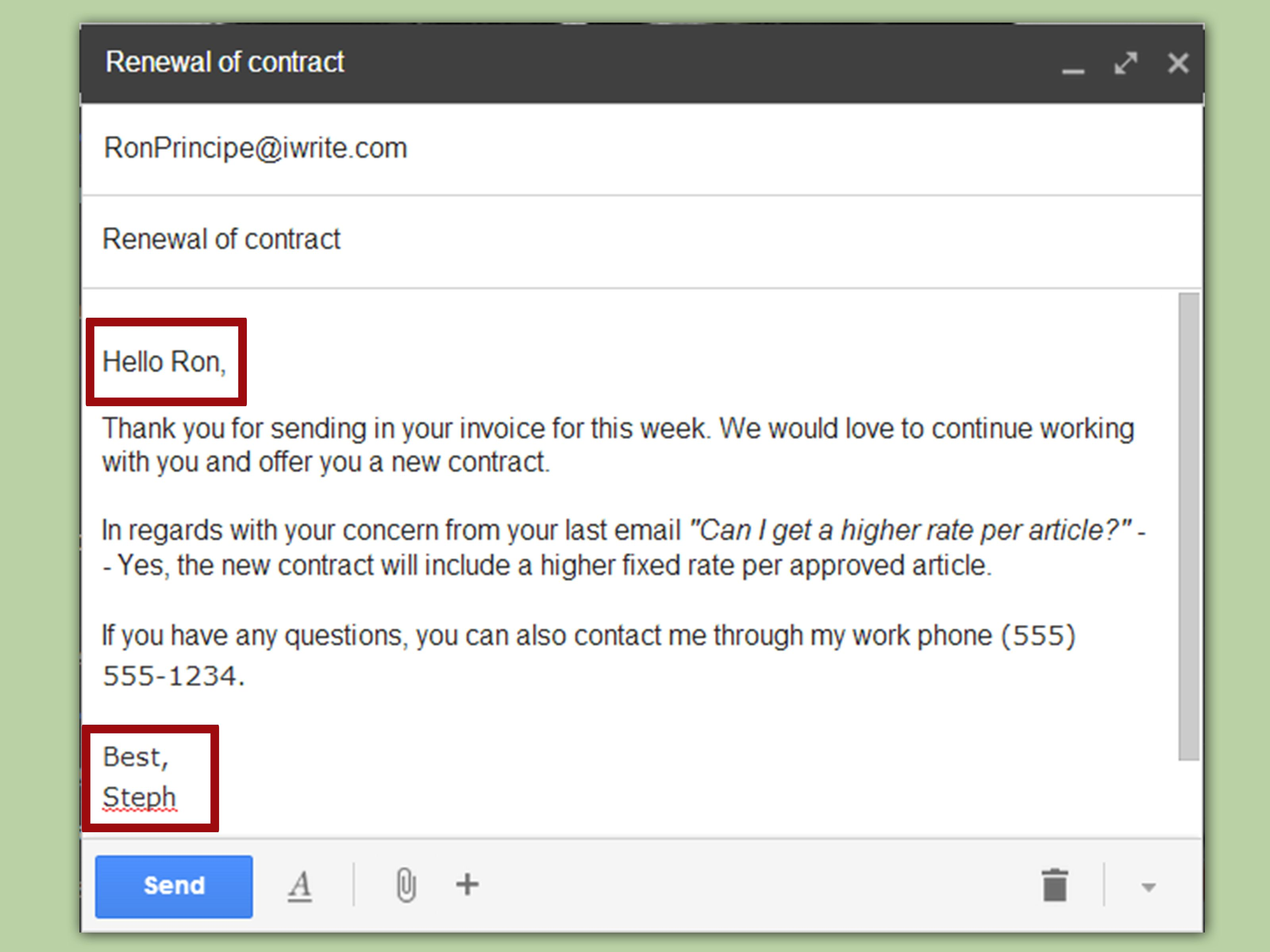 Professional Emails Templates