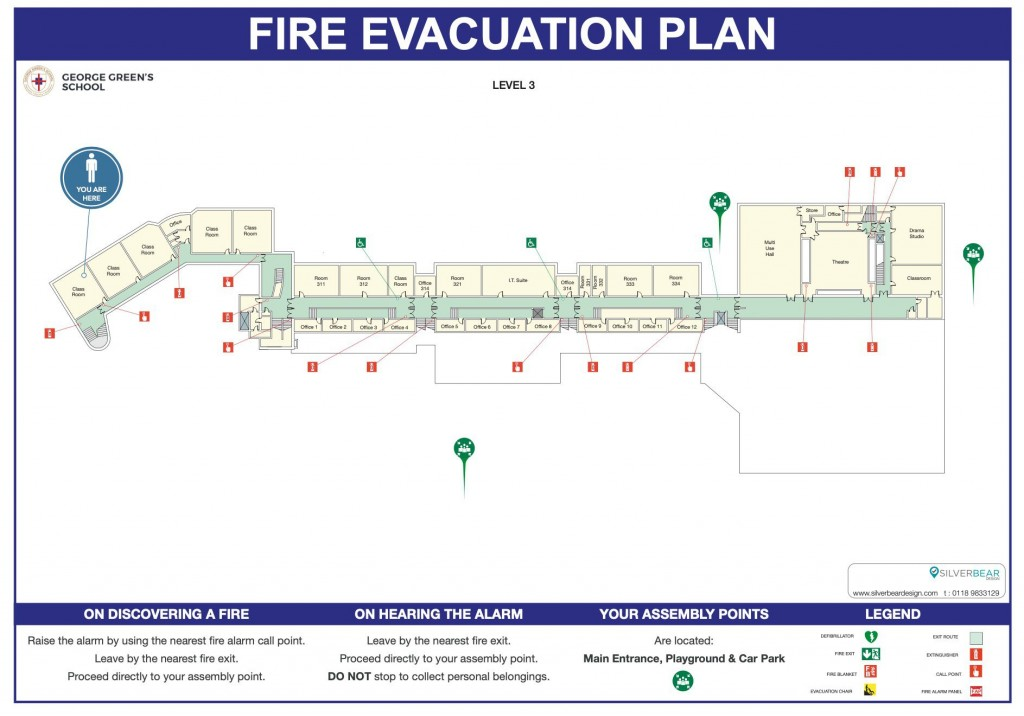 School Fire Evacuation Plan Template