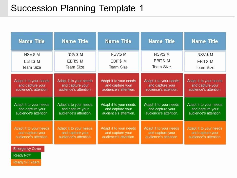 Template For Succession Planning