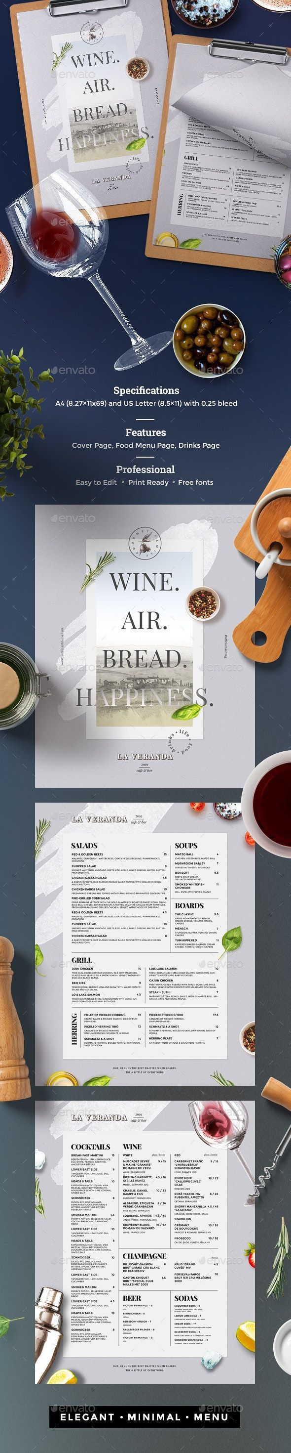 Templates For Restaurant Menus Free