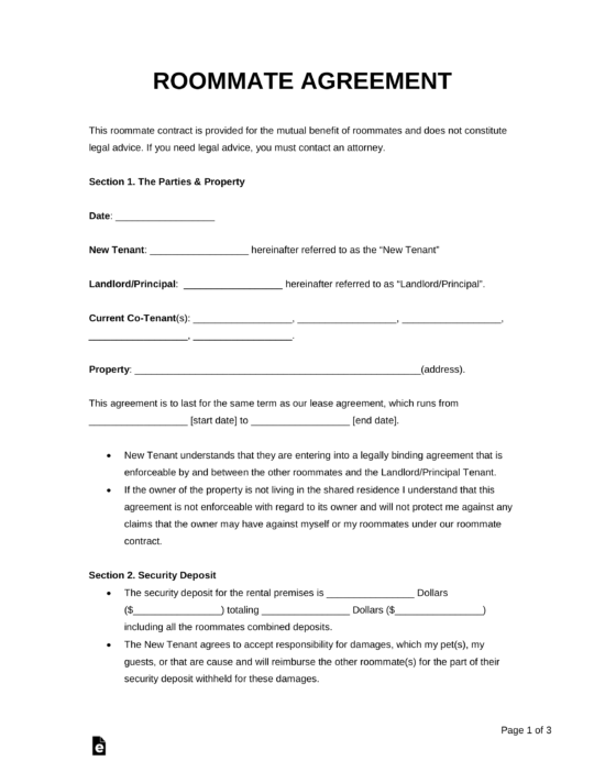 Tenants Lease Agreements Templates