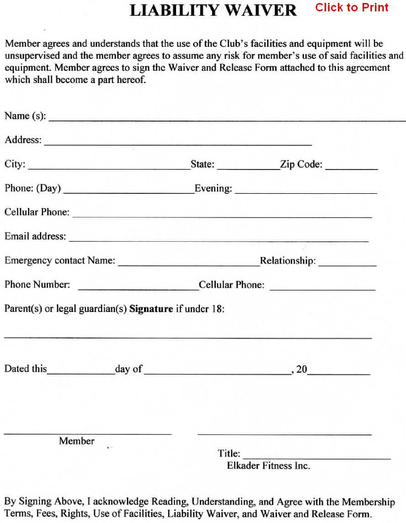 Waiver Agreement Template