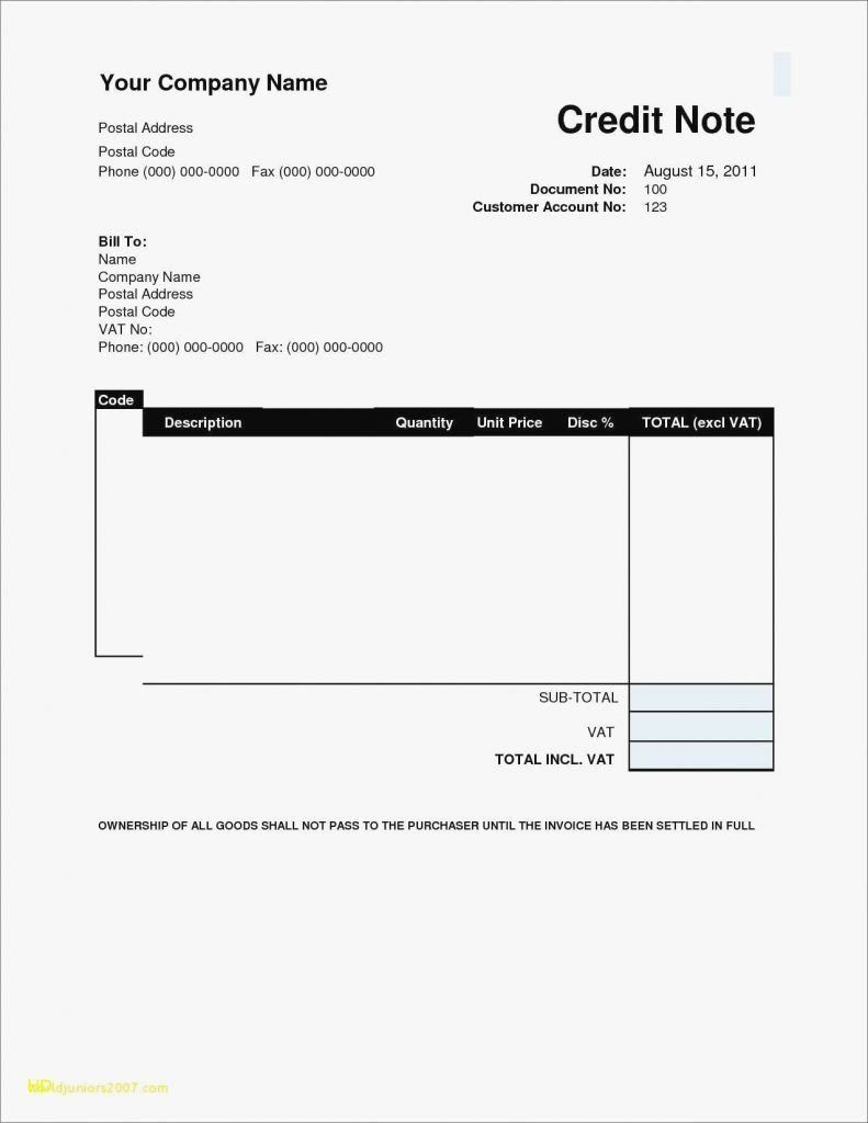 Word Document Free Printable Invoice Templates