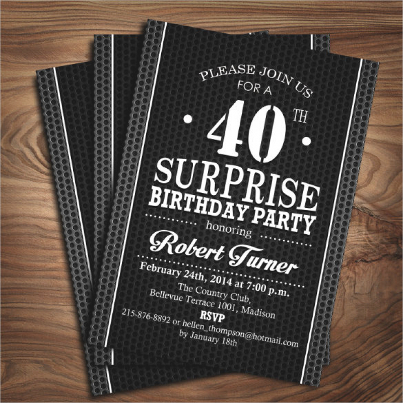 21+ 40th Birthday Invitation Templates – Free Sample, Example