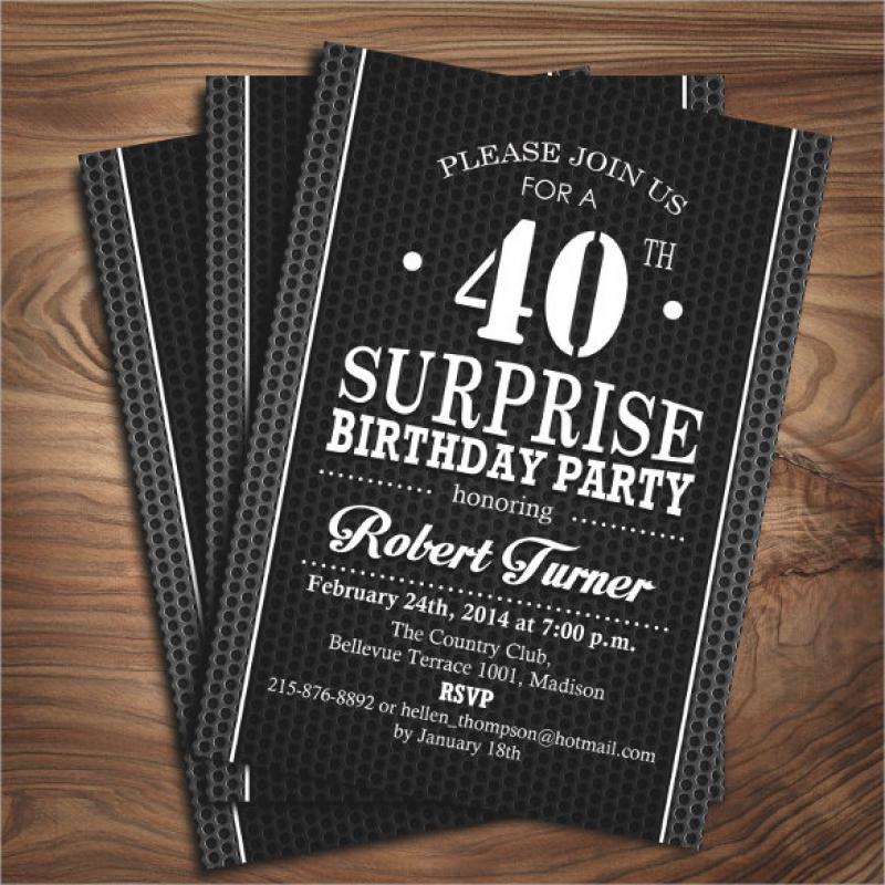 21+ 40th Birthday Invitation Templates – Free Sample, Example