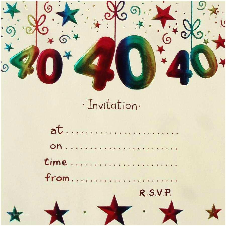 Birthday Invitations Templates Surprise 40th Birthday Invitation Free Template