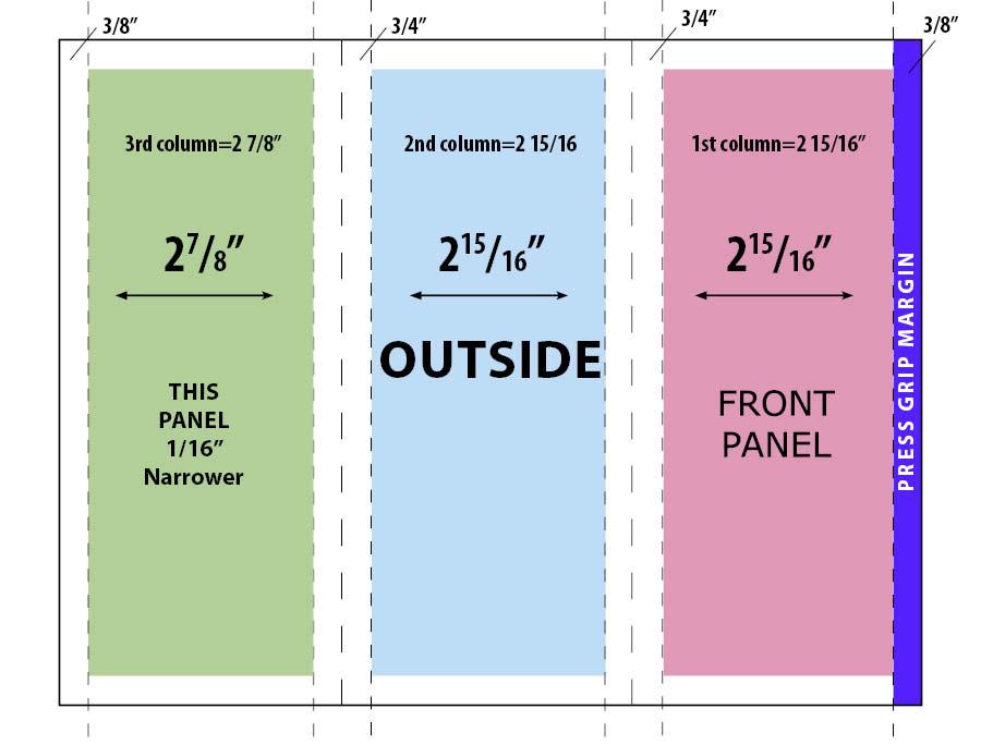 85x11 Tri Fold Brochure Template