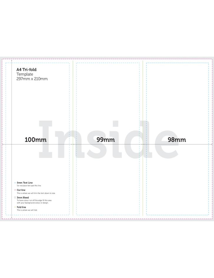 A4 Size Tri Fold Brochure Template