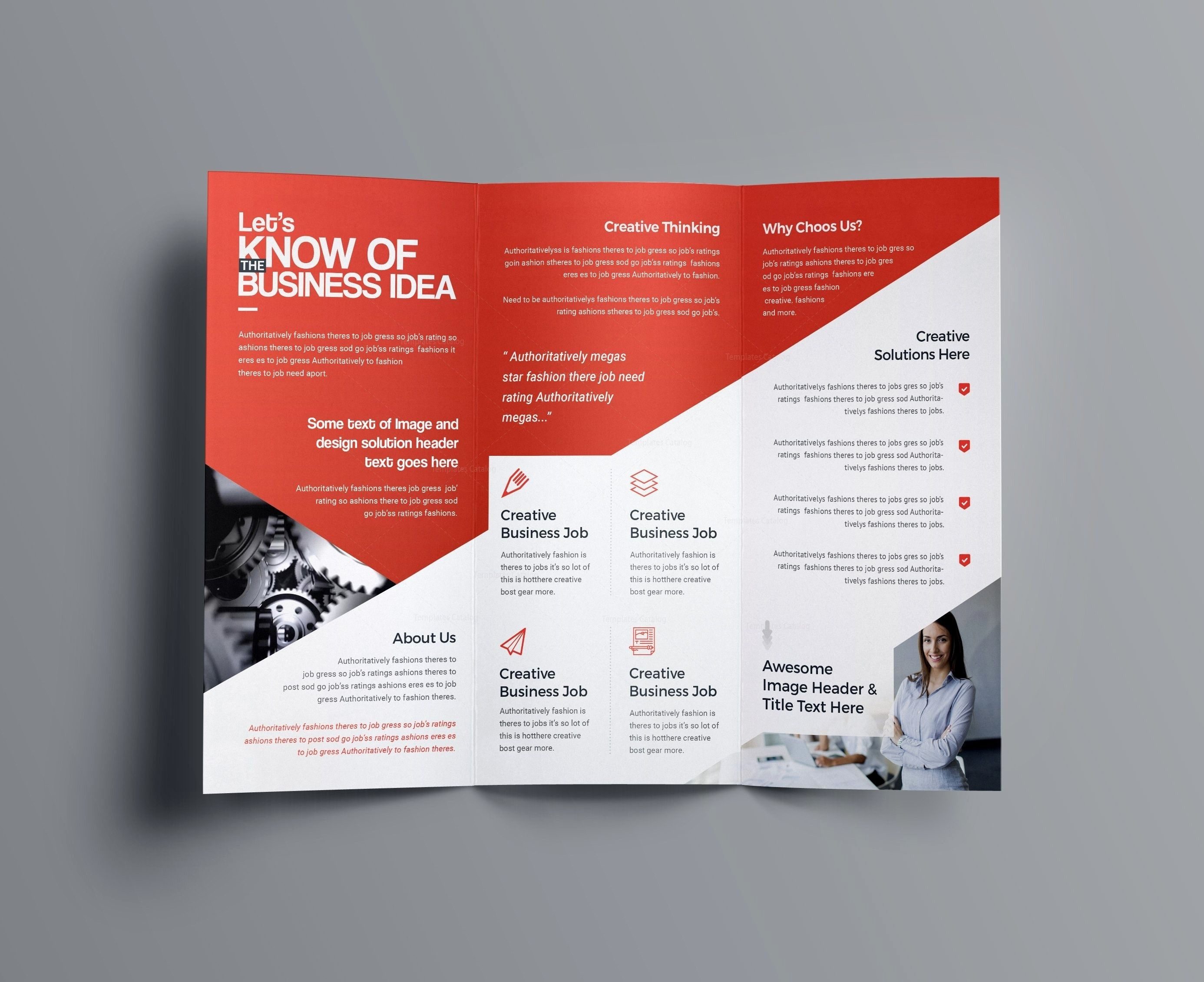 A4 Tri Fold Brochure Template Indesign Free