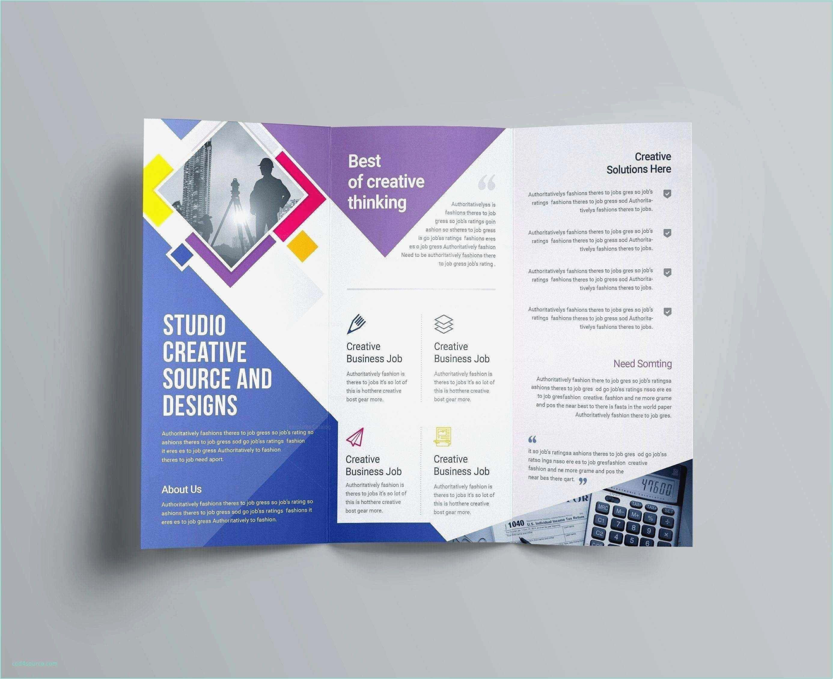A4 Tri Fold Brochure Template Word