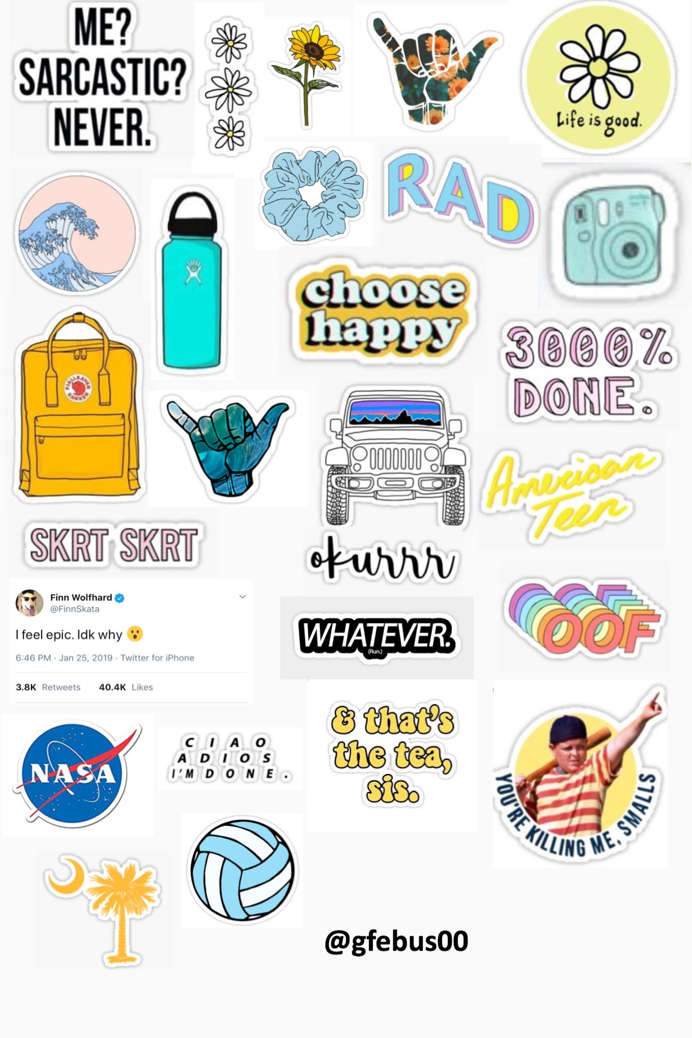 Asthetic Printable Sticker Templates