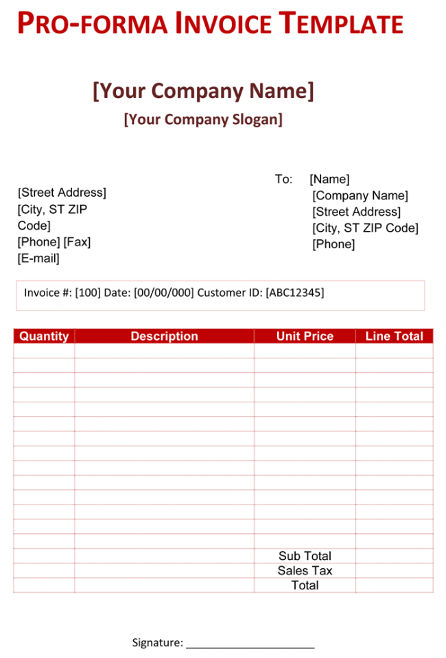 Basic Invoice Template Uk Word