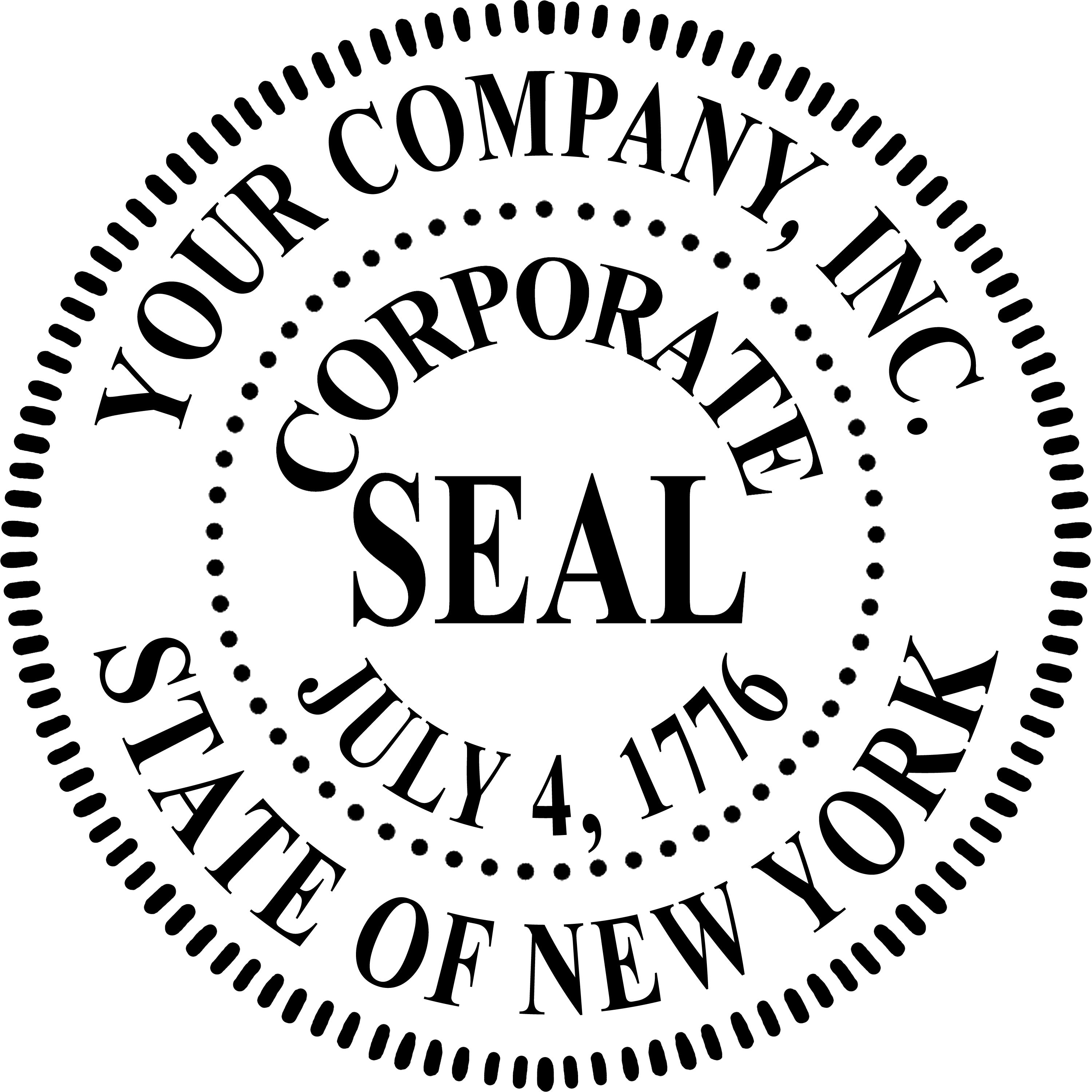 Blank Company Seal Template