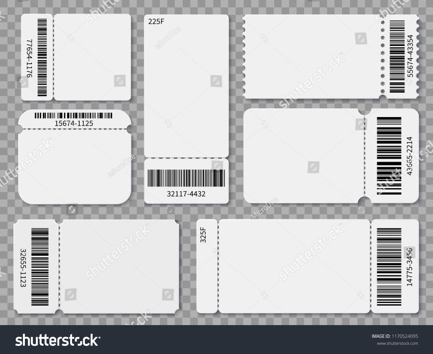 Blank Ticket Templates