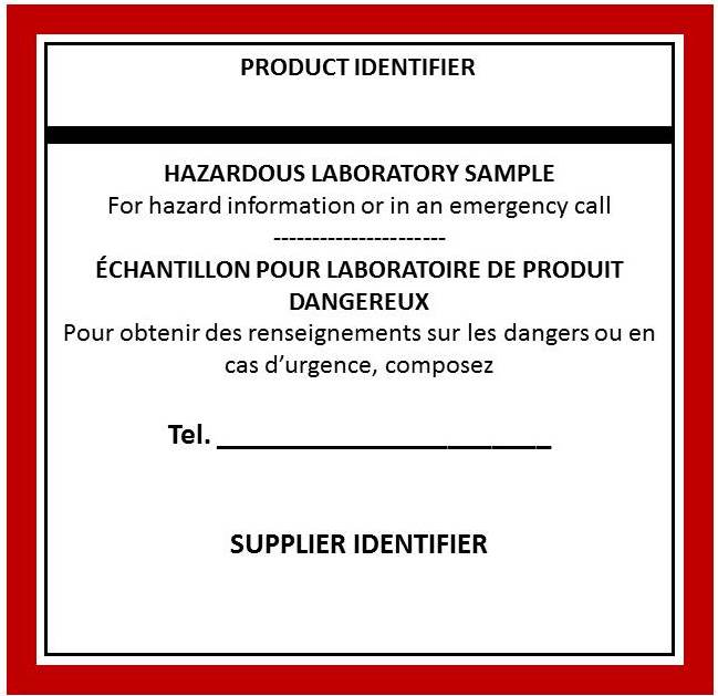 Blank Whmis Workplace Label Template