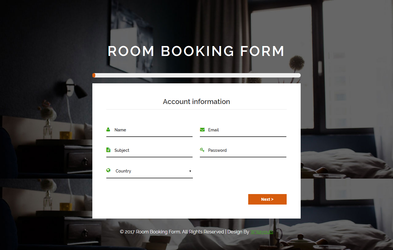 Booking Form Template Free